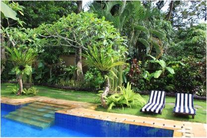 Private pool, private garden, just for you....