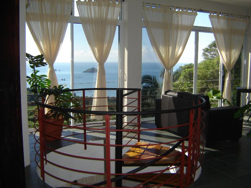 View from the living room. - Villa Manuel Antonio 13 br - Manuel Antonio - rentals