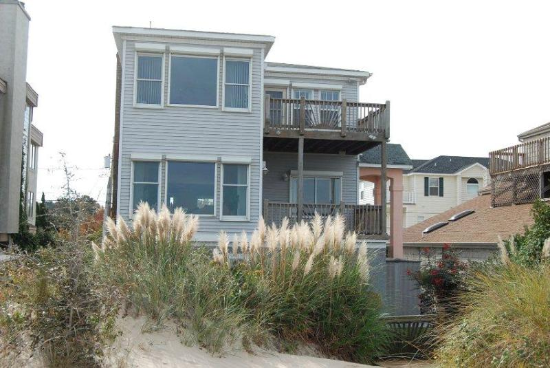 beach view of the house