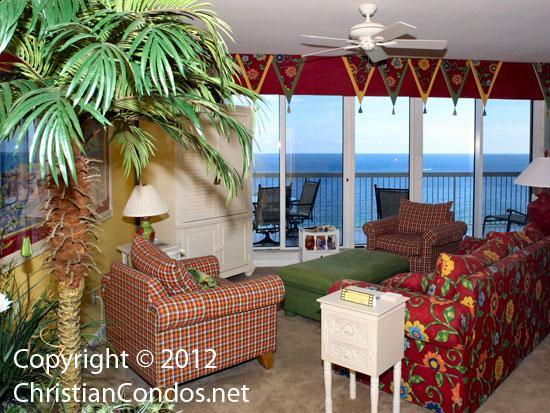 Enjoy beautiful views from the living area