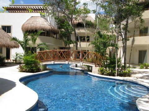 Probably the nicest pool in Tulum. Closest condos to the beaches.