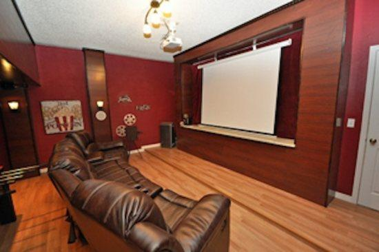 A real home theater with 100' screen theater surround system
