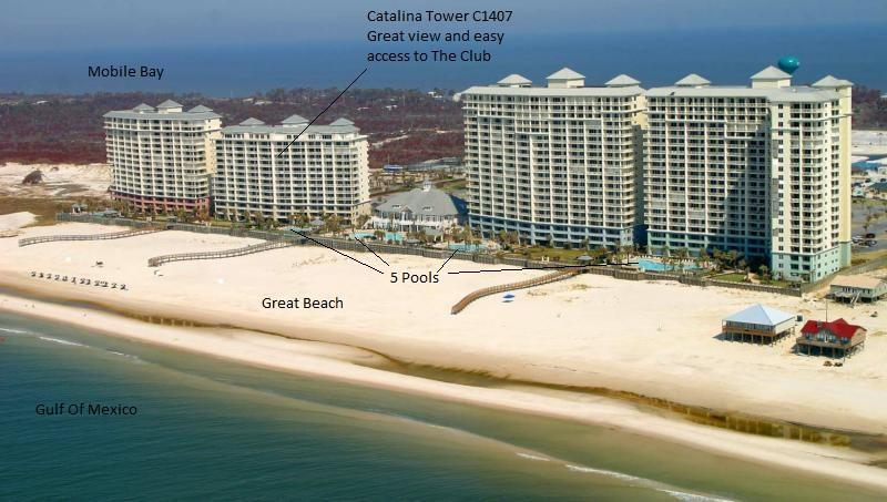 View from the Gulf of Mexico of Beach Club Condo Resort