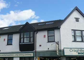 Situated in the heart of Keswick above an outdoor clothing shop