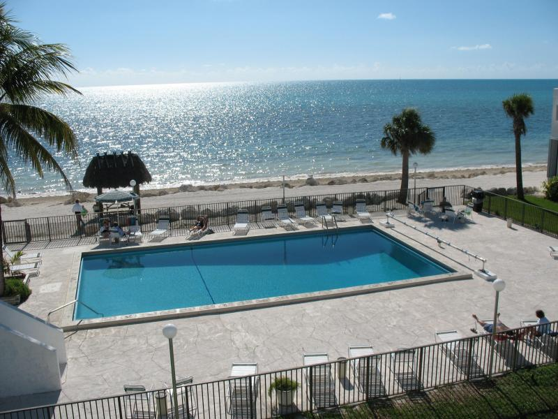Ocean view of pool & beach from private balcony