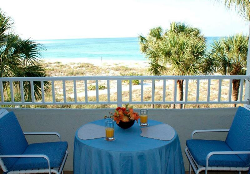 View from balcony - Inn On The Beach 1-205 on Longboat Key - Longboat Key - rentals