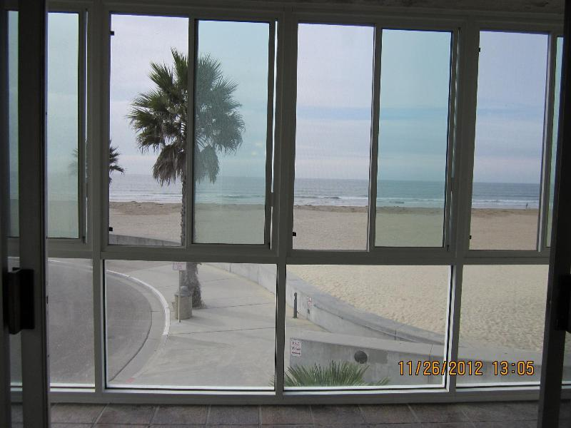 View from living room/ enclosed sun deck - Location! Location! Oceanfront Pismo Beach Condo - Pismo Beach - rentals