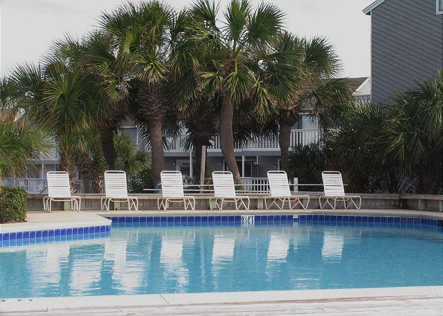 Another view of the pool looking back toward Barrier Dunes. - A Signal By The Sea - Cape San Blas - rentals