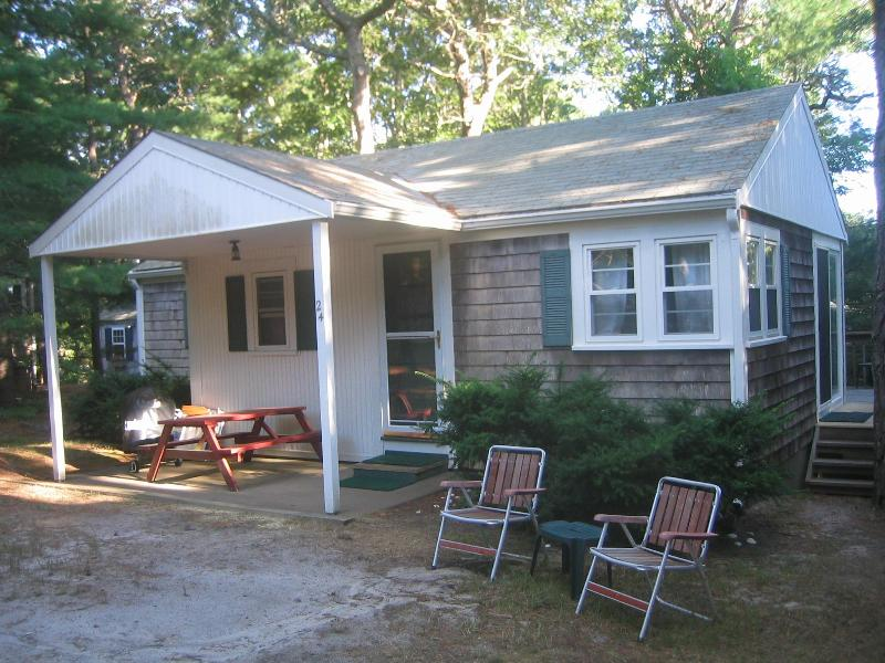 Front of cottage - set back on quiet cul de sac