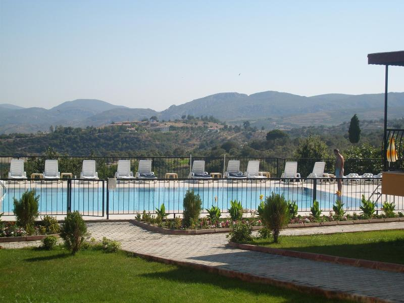 View of Main Pool with Mountain view in the backround