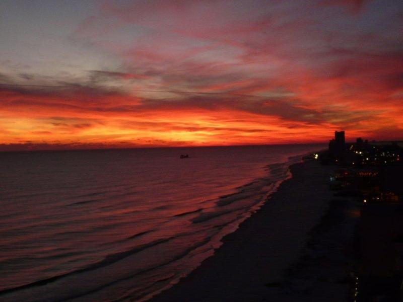 Unbelievable sunset views from the balcony of 1809.  View of Gulf Shores taken 12/26/12.