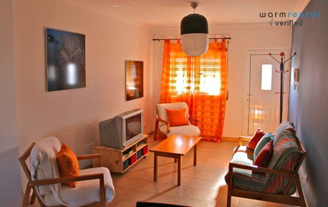 Living Room  - Polka Orange Apartment - Portugal - rentals