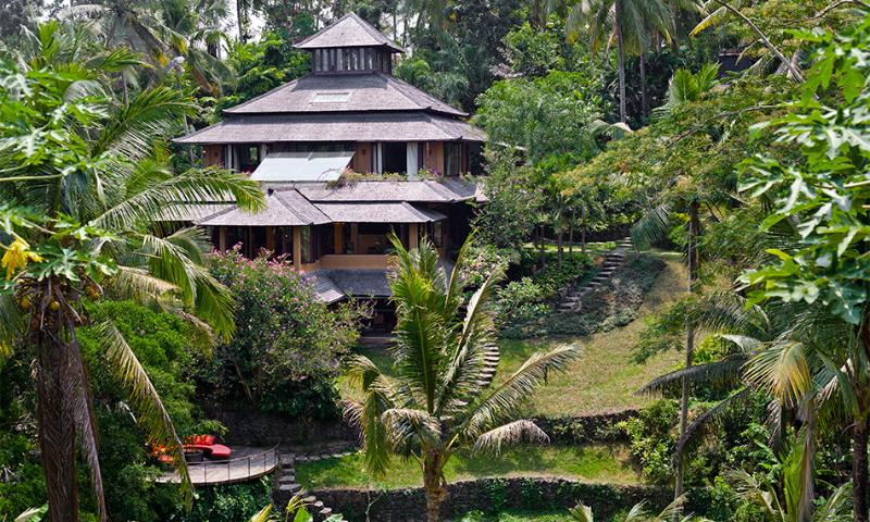 View to the villa Pelangi - Elegant & colorful. Riverside villa Pelangi. 3-4br - Ubud - rentals