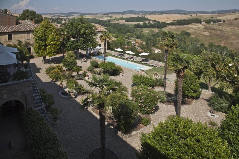 View of the garden from the first floor
