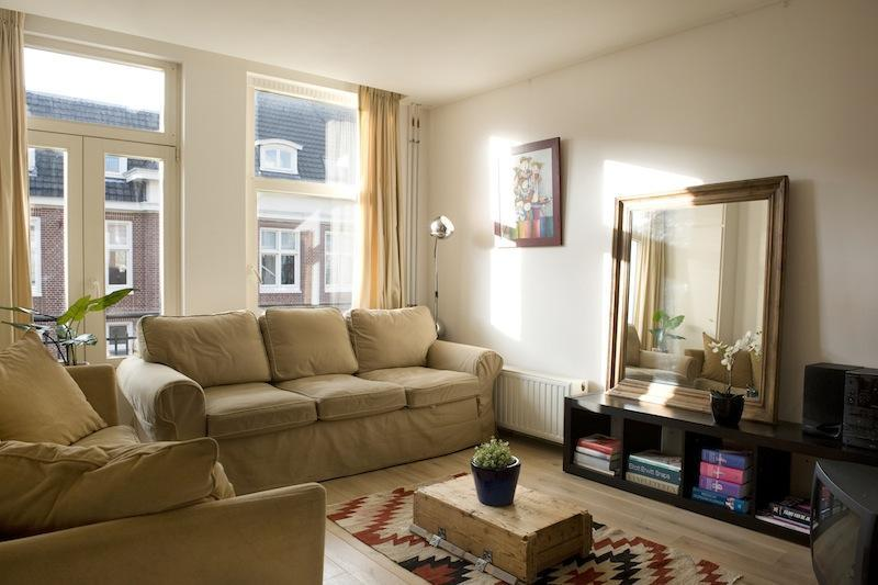 the living room, cozy and bright
