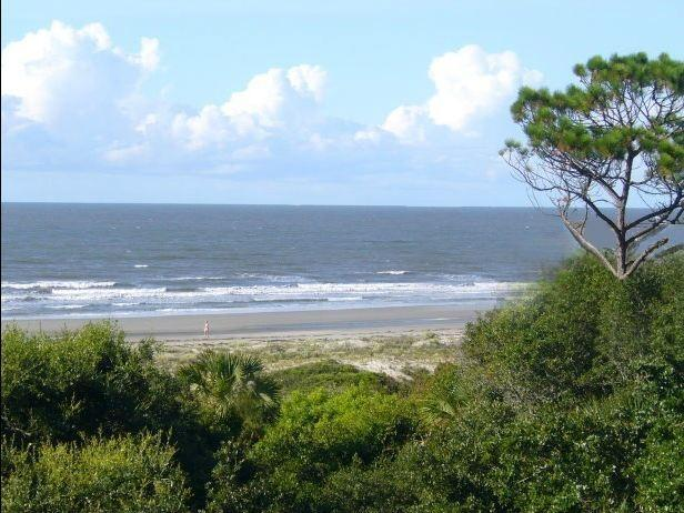 The oceanview from the Treetops Balcony - The Treetops at Shipwatch, 2BR, Oceanfront, Clean! - Kiawah Island - rentals
