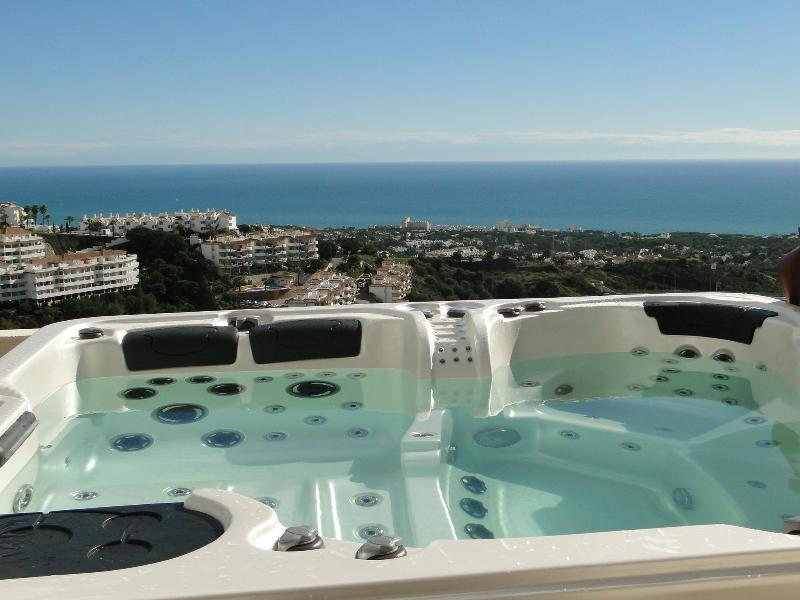 Jacuzzi and view