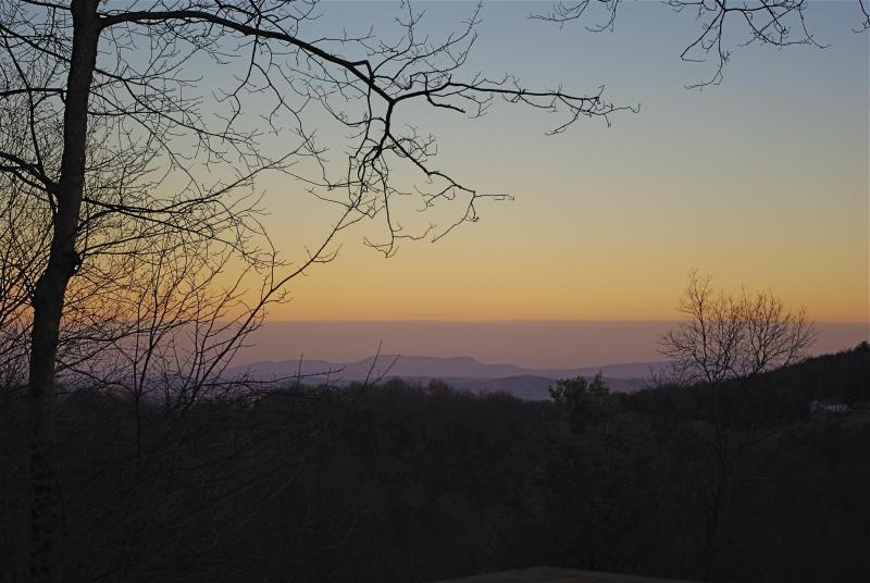 Sunset over the Piedmont - Hemlock Haven - Fancy Gap - rentals