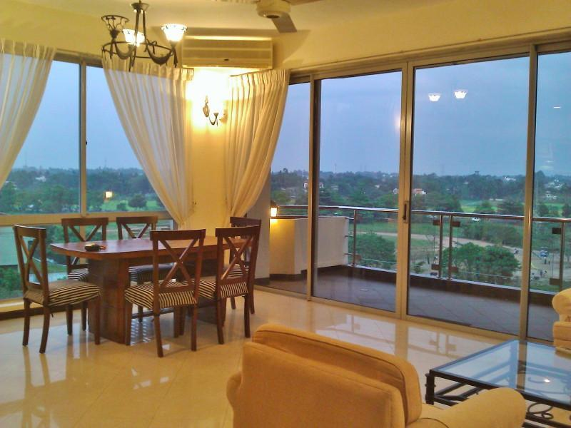Living Dining & Balcony - 3 BR Apt short term:  Not Available Temporarily - Battaramulla - rentals