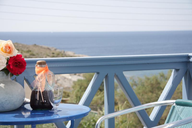 Private balcony - Apartment that views to the sea ( 100 ) meters form the sandy beach - Syros - rentals