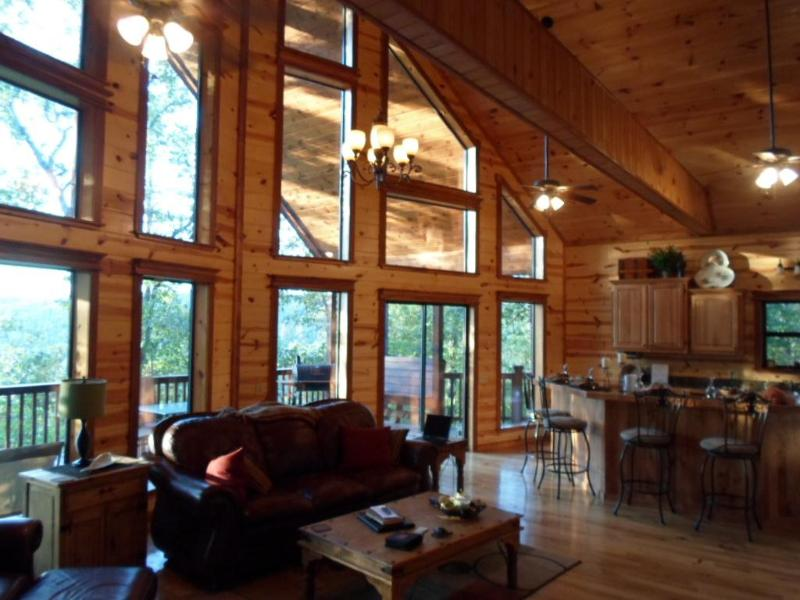 Downstairs View - Pine Summit Cabin - Luxury Camping at its Finest.! - Broken Bow - rentals