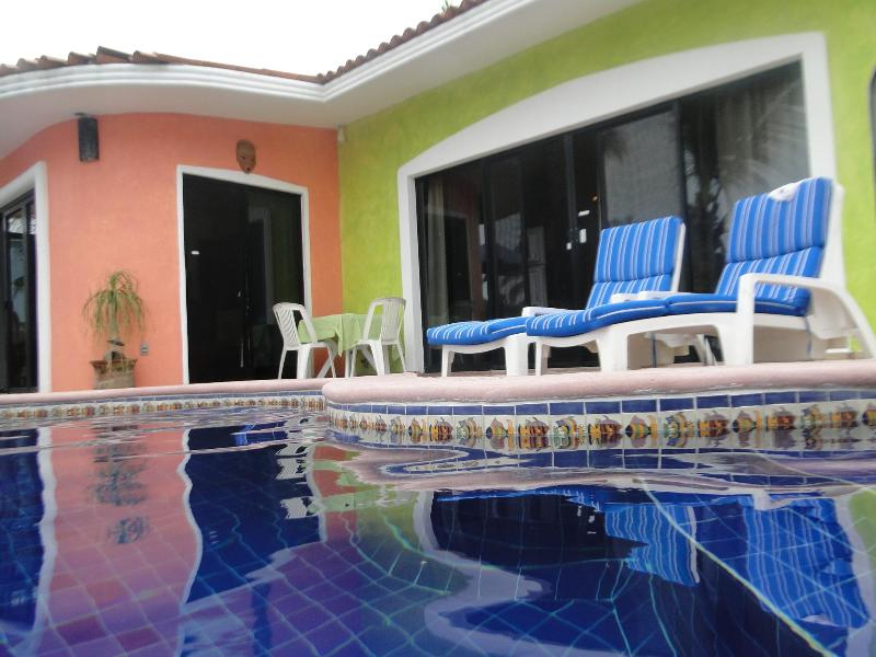 pool in front of suite