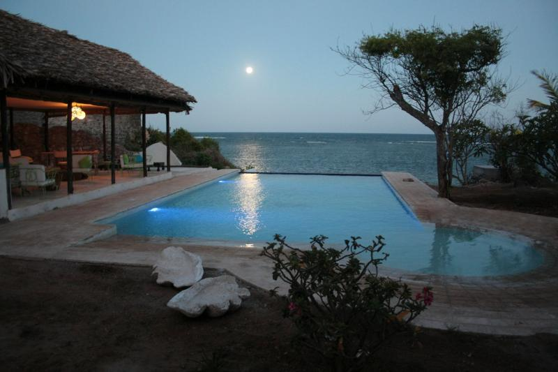 Pool at full moon