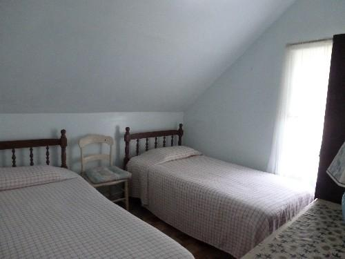 twin beds in one bedroom