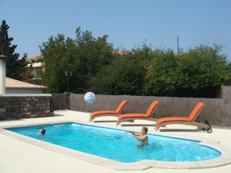 Pool: 8x4 metres, fenced for children's security