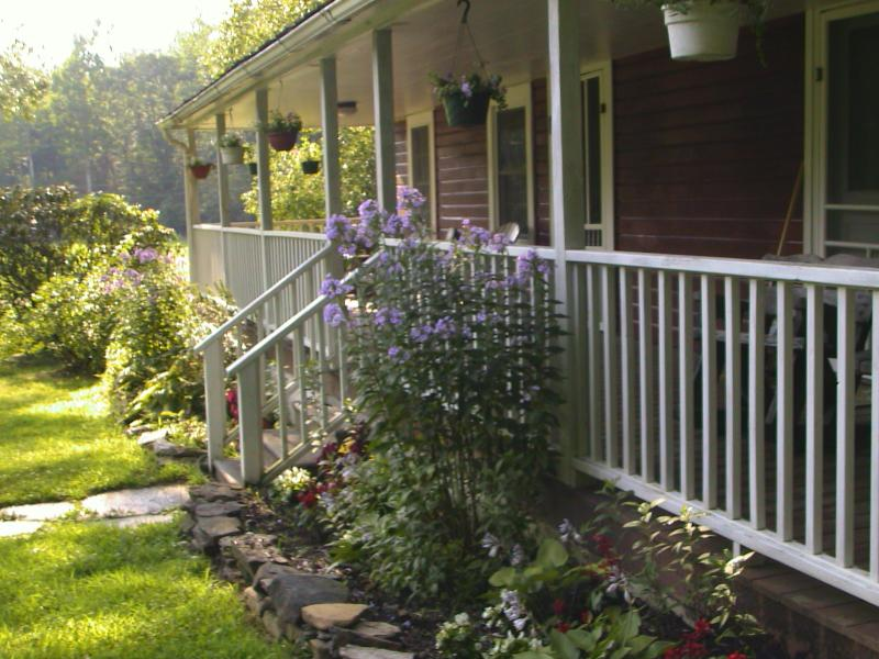 Porch and cottage garden