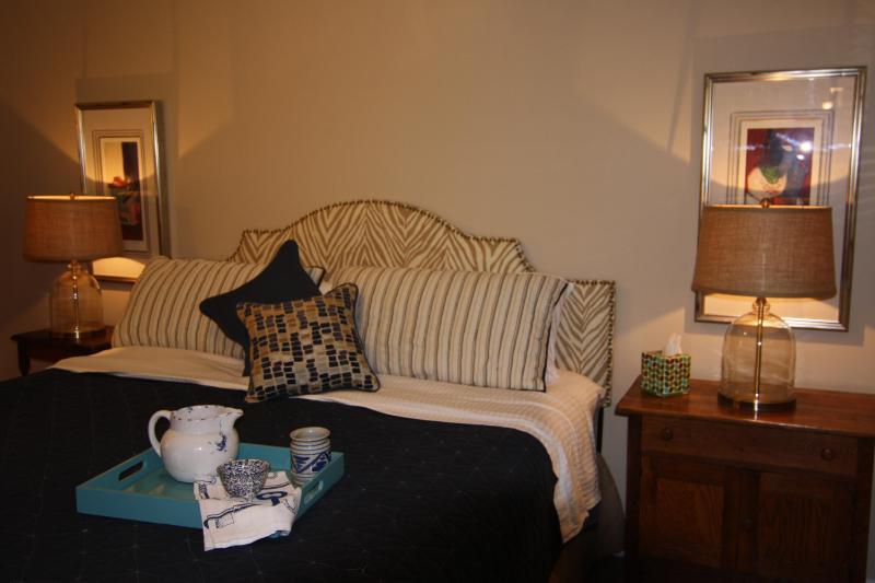 Comfortable King Size Bed, beautifully decorated bedroom