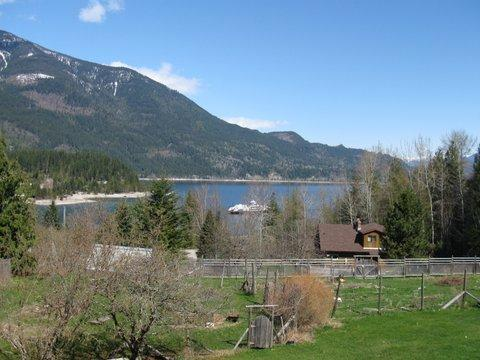 A view overlooking Kootenay Lake from your deck