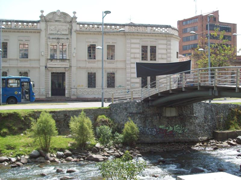 VIEW OF THE BEAUTIFUL HISTORIC BUILDING ACROSS THE RIVER