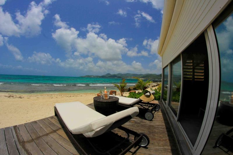 Private terrasse on the beach,