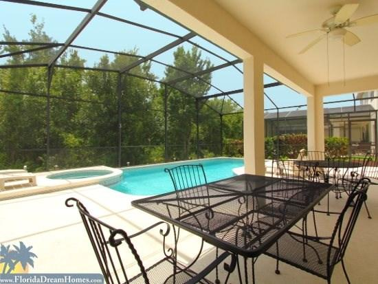 Huge Covered Lanai and Pool Deck with Private Pool and Hot Tub - Big Vacation in a Big Home 6 Bedrooms Gameroom Spa Private Pool and 3 Sitting Rooms - Kissimmee - rentals