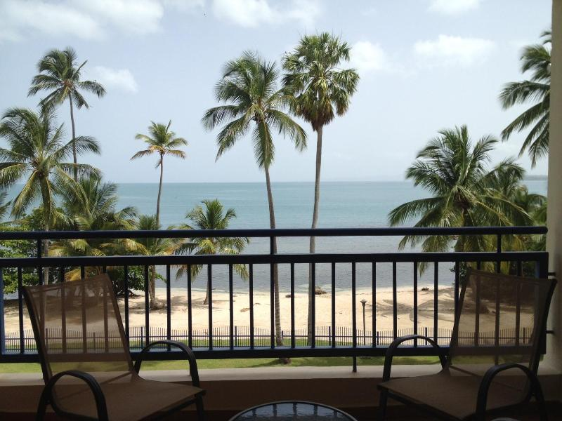 main balcony on 1st level facing the warm and gentle Caribbean Sea