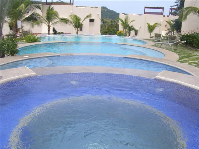 Muliple tiered swimming pool