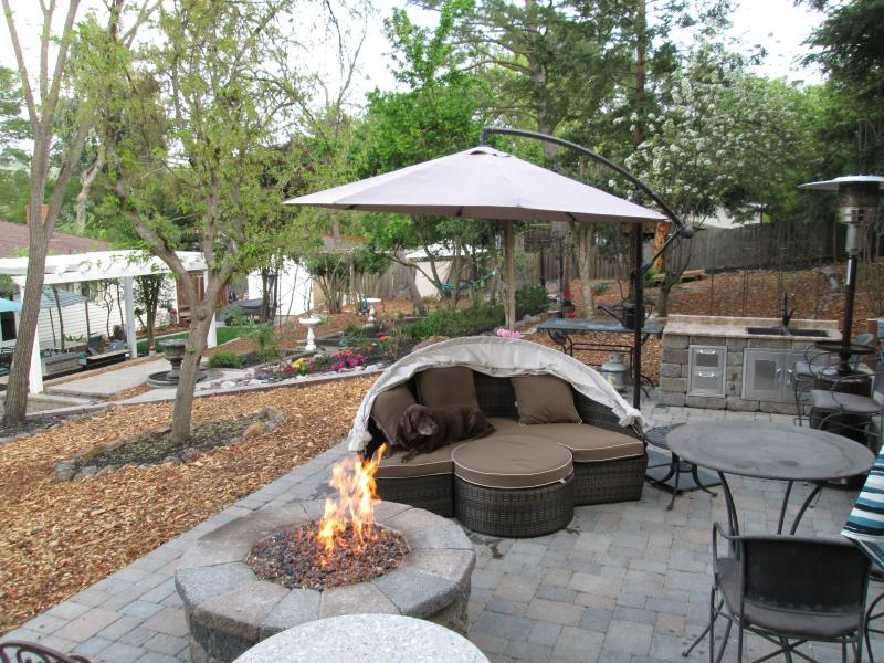 Upper Patio With Gas Burning Firepit & Upper Patio with Sink