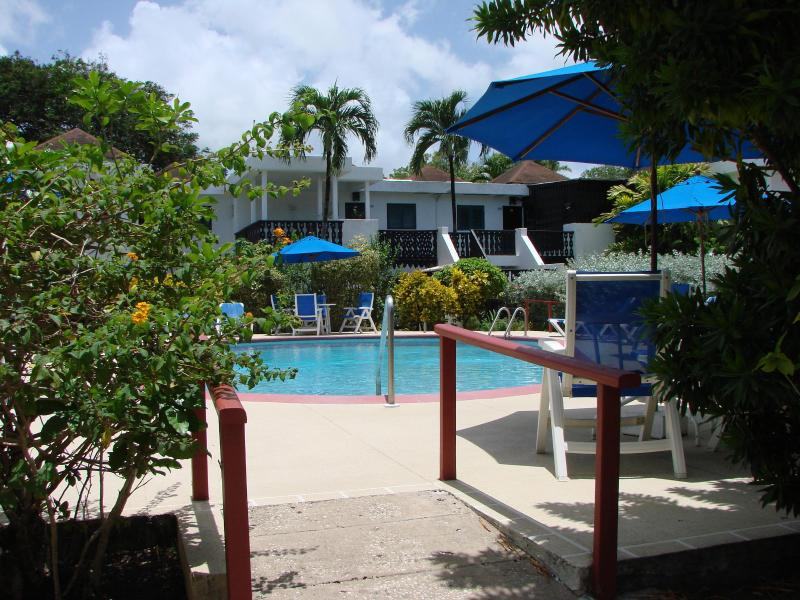 Entrance to pool area - Barbados Apartment including free golf - Rockley - rentals