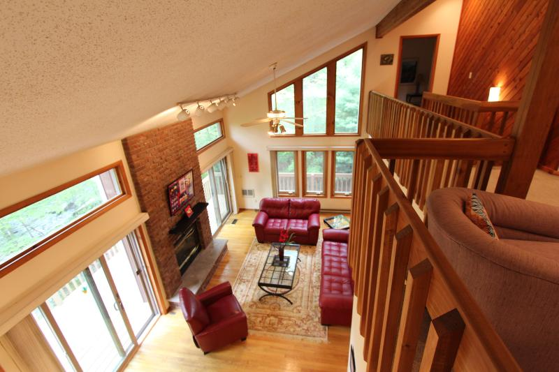 Inside view of living room from loft