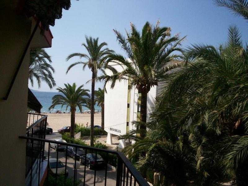View of the beach from the larger balcony