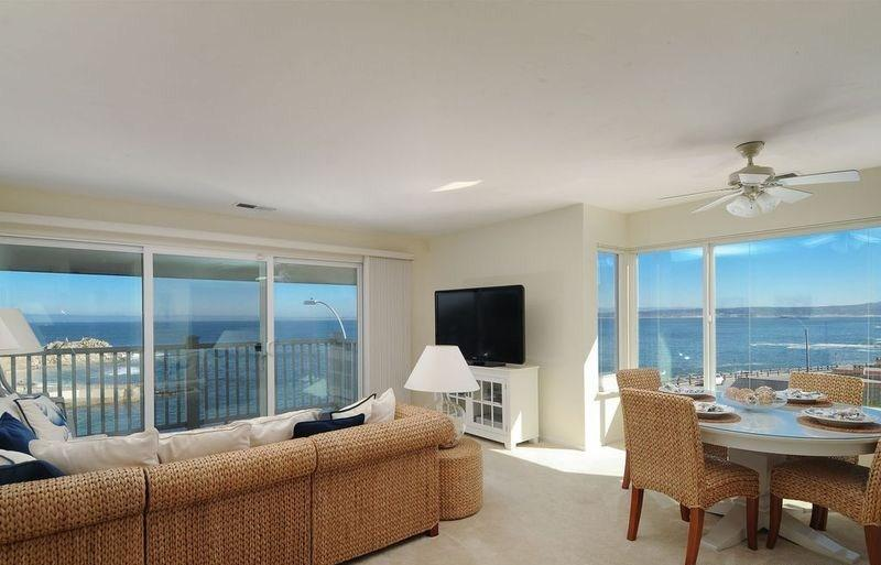 Living Room with a Panoramic Ocean View of Monterey Bay and Lover's Point