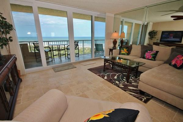 Living Room with Great Ocean View