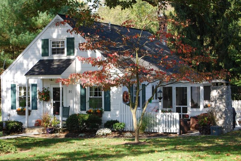 The Cottage beautifully adorned in nature's fall colors.
