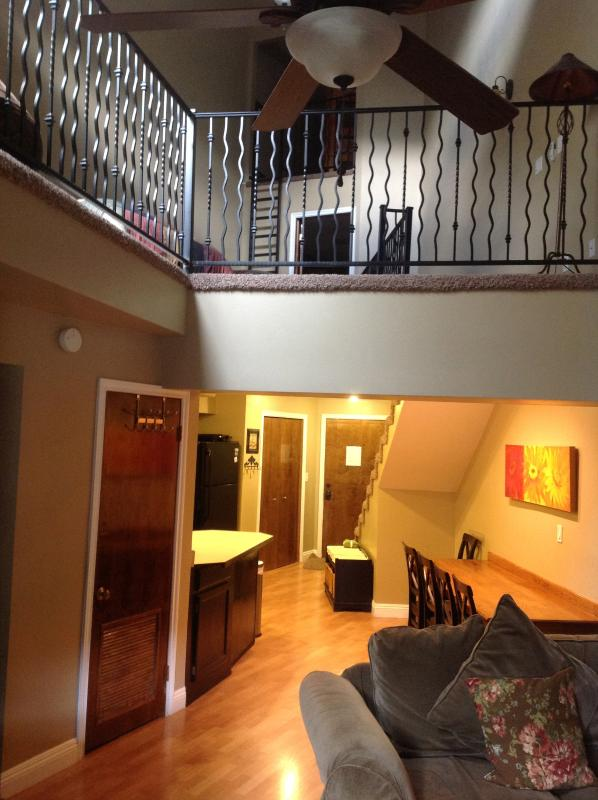living room/ view of upstairs