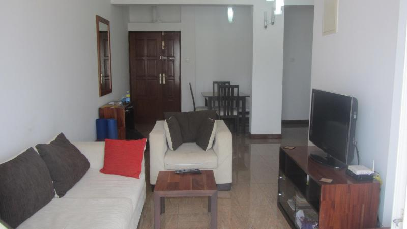 Living Area - Fully Furnished Seaside 2BR Apartment - short term - Colombo - rentals