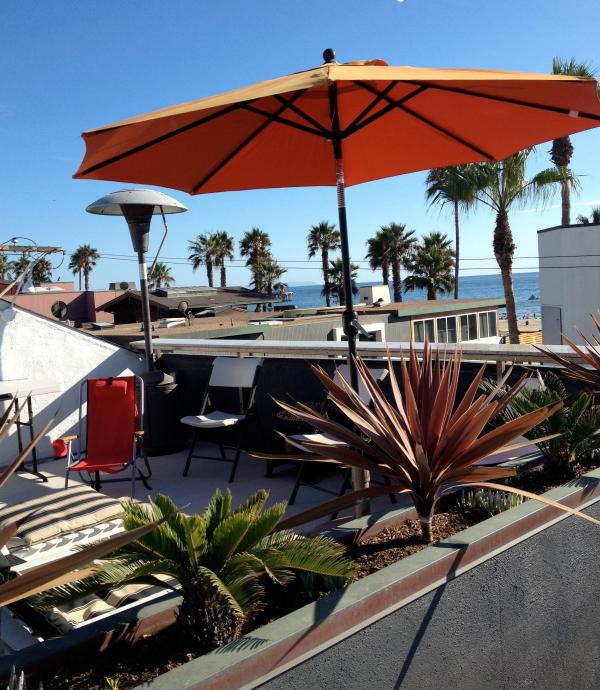 Ocean view from the rooftop deck