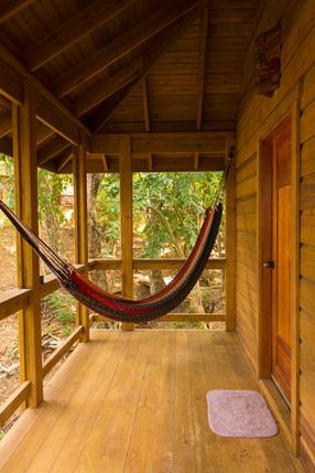 Turtle Cabin Porch with hammock