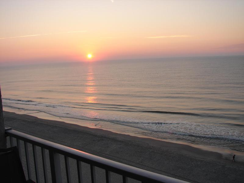 View of sunrise off balcony
