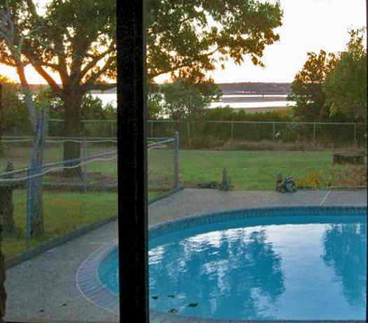View of Lake and Pool from House